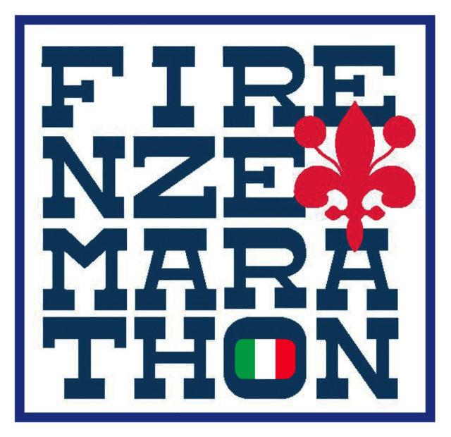 Logo de Firenze marathon de Florence, Italie.